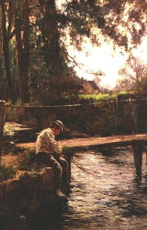 John White reproductions - The Young Angler