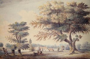 John White reproductions - The Old Cheesecake House, north of the Serpentine, 1786