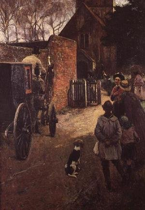 Reproduction oil paintings - John White - A Village Wedding