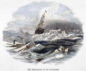 Josiah Wood Whymper reproductions - The Breaking Up of Ice-Floes, from Phenomena of Nature, 1849