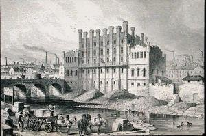 Reproduction oil paintings - Josiah Wood Whymper - The Castle Grinding Mill at Sheffield from Cyclopaedia of Useful Arts & Manufactures by Charles Tomlinson, c.1880s