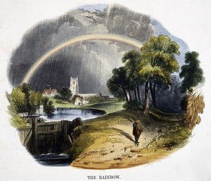 Reproduction oil paintings - Josiah Wood Whymper - The Rainbow, from Phenomena of Nature, 1849