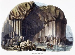 Reproduction oil paintings - Josiah Wood Whymper - Fingals Cave, from Phenomena of Nature, 1849
