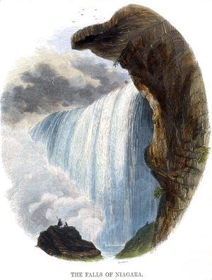 Reproduction oil paintings - Josiah Wood Whymper - The Falls of Niagara, from Phenomena of Nature, 1849