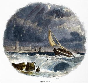 Reproduction oil paintings - Josiah Wood Whymper - Monsoons, from Phenomena of Nature, 1849