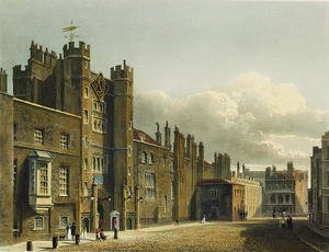 Reproduction oil paintings - Charles Wild - St. James's Palace, from 'The History of the Royal Residences', engraved by Richard Reeve (b.1780), by William Henry Pyne (1769-1843), 1819
