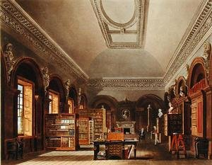 Reproduction oil paintings - Charles Wild - The Queen's Library, St. James's Palace, from 'The History of the Royal Residences', engraved by Richard Reeve (b.1780), by William Henry Pyne (1769-1843), 1819