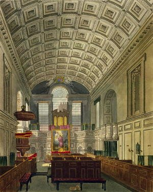 Reproduction oil paintings - Charles Wild - The German Chapel, St. James's Palace, from 'The History of the Royal Residences', engraved by Daniel Havell (1785-1826), by William Henry Pyne (1769-1843), 181
