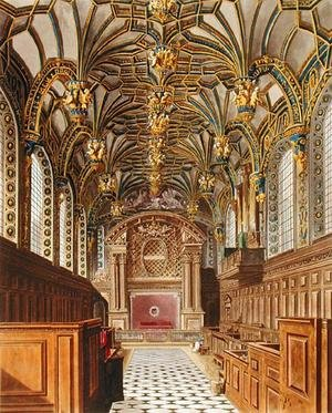 Reproduction oil paintings - Charles Wild - The Chapel, Hampton Court, from 'The History of the Royal Residences', engraved by Richard Reeve (b.1780), by William Henry Pyne (1769-1843), 1819