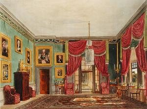 Reproduction oil paintings - Charles Wild - The Green Pavilion, Frogmore House, from The History of the Royal Residences, engraved by Daniel Havell (1785-1826), by William Henry Pyne (1769-1843), 1819