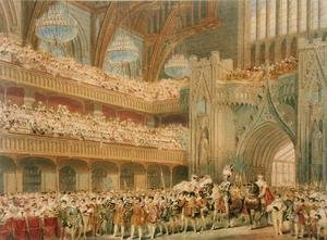 Reproduction oil paintings - Charles Wild - The Champion of England entering Westminster Hall