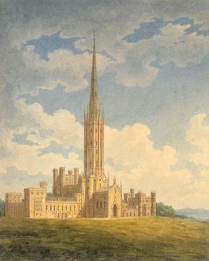 Reproduction oil paintings - Charles Wild - North-west view of Fonthill Abbey