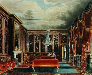 Reproduction oil paintings - Charles Wild - The Japan Room at Frogmore, engraved by R. Reeve, from The History of the Royal Residences of Windsor Castle, St. James Palace, Carlton House, Kensington Palace, Hampton Court and Frogmore, published by A. Dry, 1819
