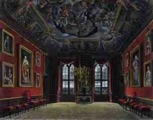Reproduction oil paintings - Charles Wild - The Kings Old State Bed Chamber, Windsor Castle, from 'Royal Residences', engraved by Thomas Sutherland (b.1785), pub. by William Henry Pyne (1769-1843), 1816