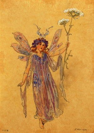 A Fairy, costume design for A Midsummer Nights Dream, produced by R. Courtneidge at the Princes Theatre, Manchester