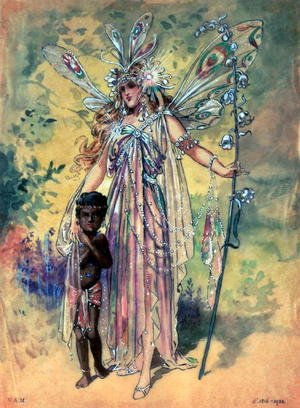 "C. Wilhelm reproductions - Titania, costume design for ""A Midsummer Night's Dream"", produced by R. Courtneidge at the Princes Theatre, Manchester"