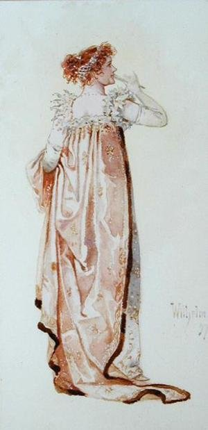 Reproduction oil paintings - C. Wilhelm - Ellen Terry (1847-1928) as Catherine, Duchess of Danzig in the comedy Madame Sans-Gene, 1897