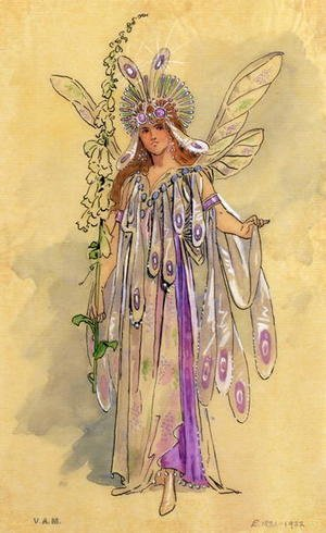 "Titania, Queen of the Fairies. Costume design for ""A Midsummer Night's Dream"" produced by Robert Courtneidge at the Princes Theatre, Manchester"
