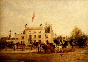 Kennington Oval: The Tavern and the Entrance, c.1858