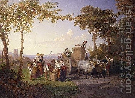 Harvesting the vine by Henry Williams - Reproduction Oil Painting