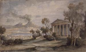 PD.255-1985 The Villa Saliceti, Naples below and Mt. Vesuvius in the distance, 181