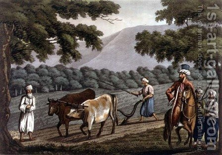 Agriculture in Syria, engraved by Joseph Constantine Stadler (fl.1780-1812) pub. by J. White, 1801 by (after) Willyams, Cooper - Reproduction Oil Painting