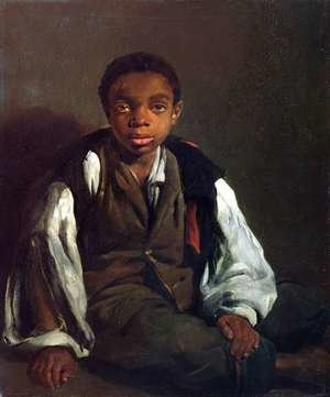 Famous paintings of Black Art: The Black Boy, 1844