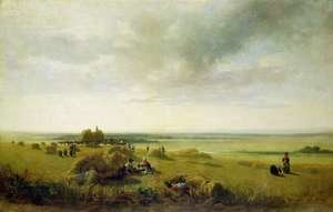 Famous Paintings in Victoria and Albert Museum, London, England: A Corn Field