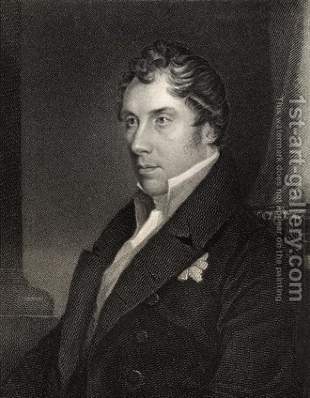 George Hamilton Gordon, engraved by Thomas Woolnoth (1785-1857) from National Portrait Gallery, volume III, published c.1835 by (after) Wivell, Abraham - Reproduction Oil Painting