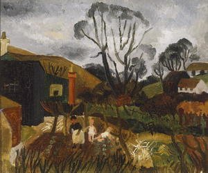 Constructivism painting reproductions: Cottages in Cornwall, 1928
