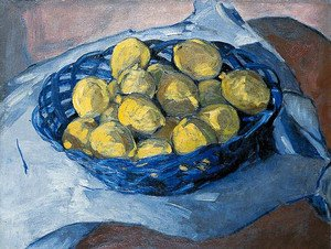 Constructivism painting reproductions: Lemons in a Blue Basket, 1922