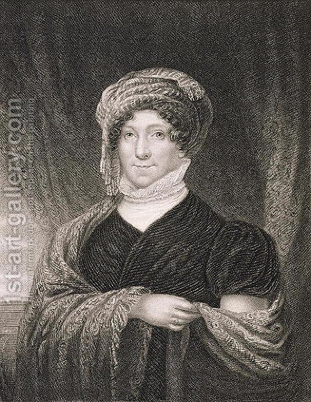 Dolly Madison, engraved by John Francis Eugene Prud'Homme (1800-92) after a drawing of the original by James Herring (1794-1867) by (after) Wood, Joseph - Reproduction Oil Painting