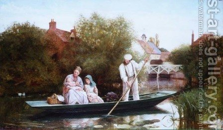 Going Home, 1873 by Henry Woods - Reproduction Oil Painting