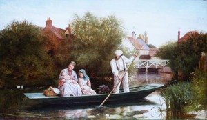 Reproduction oil paintings - Henry Woods - Going Home, 1873