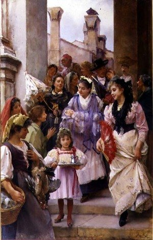 Reproduction oil paintings - Henry Woods - A Venetian Christening Party, 1896