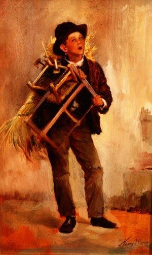 Reproduction oil paintings - Henry Woods - The Chairmender