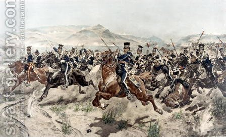 Richard Caton Woodville: The Charge of the Light Brigade, 1895 - reproduction oil painting