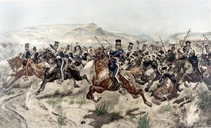 Famous paintings of Horses & Horse Riding: The Charge of the Light Brigade, 1895