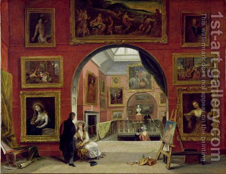 Interior of the Royal Institution, during the Old Master Exhibition, Summer 1832, 1833 by Alfred Woolmer - Reproduction Oil Painting