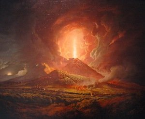 An Eruption of Vesuvius, seen from Portici, c.1774-6