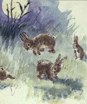 Expressionism painting reproductions: Illustration from the Busy Bunny Book