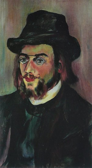 Reproduction oil paintings - Suzanne Valadon - Portrait of Erik Satie (1866-1925) c.1892