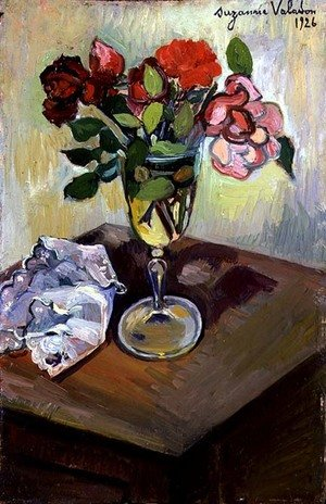 Reproduction oil paintings - Suzanne Valadon - Roses in a Glass, 1926