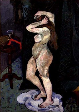 Reproduction oil paintings - Suzanne Valadon - Nude Arranging her Hair, c.1916