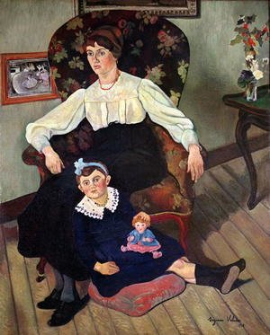 Reproduction oil paintings - Suzanne Valadon - Portrait of Marie Coca and her Daughter, 1913