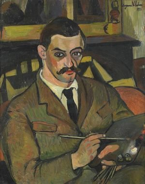 Reproduction oil paintings - Suzanne Valadon - Portrait of Maurice Utrillo (1883-1955) 1921