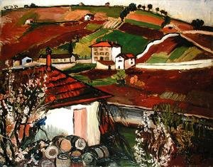 Reproduction oil paintings - Suzanne Valadon - Houses in the Countryside, 1921