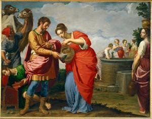 Rebecca and Eliezer at the Well, c.1626-27