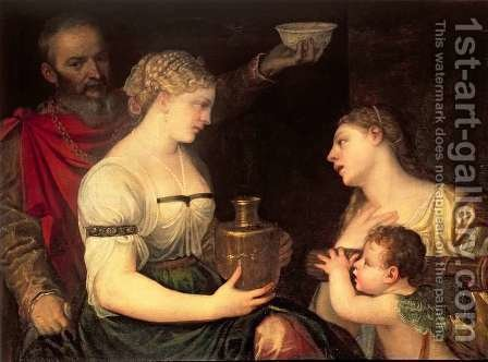 Allegory of Married life depicting the Gods Vesta, Hymen, Mars and Venus by (Alessandro) Padovanino (Varotari) - Reproduction Oil Painting