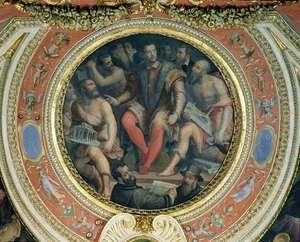 Reproduction oil paintings - Giorgio Vasari - Cosimo I and His Artists, from the Sala di Cosimo I